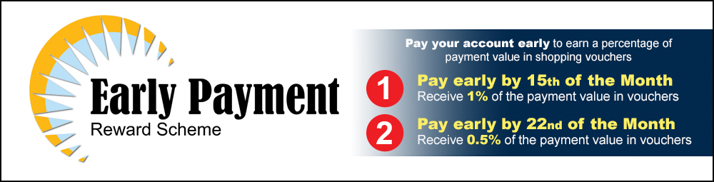 Early Payment Sliding Banner